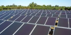 Completed array with 10kW a-Si panels